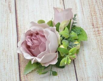 Rustic hair clip Flower hair clip Wedding flower clip Gift for her Wedding floral hair clip Bridal rustic hair clip Bridal hair fashion Gift