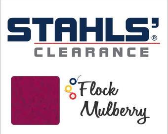 "12"" x 5 Yards - Stahls' Flock - Craft Roll - Iron-on - Heat Transfer Vinyl - HTV - Mulberry"