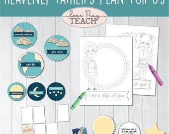 """LDS Primary 1 Sunbeams Lesson 3: """"Heavenly Father's Plan for Us"""" Printable Lesson Packet - activity ideas, coloring pages, Plan of Salvation"""