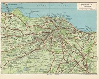 1959 Edinburgh Scotland Antique map