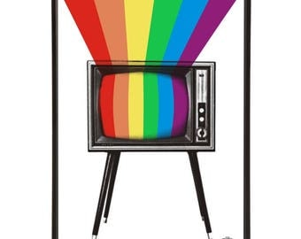 TV Colour graphic pop art print