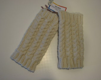 Hand knit cabled boot toppers