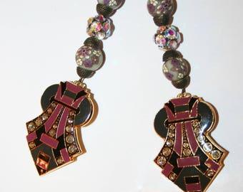 Art deco earrings - 1930 XXL