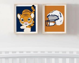 Auburn University Football Nursery Prints