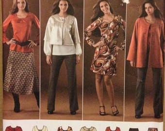 Simplicity 2766 Easy Wardrobe Separates Tunic, Top, Dress Jackets, Pants and Skirt - Size 10 12 14 16 18
