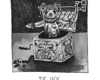 The Jack - Inktober - Print - Jack in the Box - Halloween