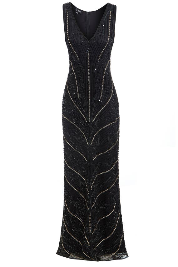 How to make blackmaxi dress 1920s style