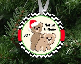 Naughty Bears Couples Ornament Keepsake - Custom Made to Order - 2017