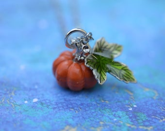 Autumn Pumpkin Pendant Necklace