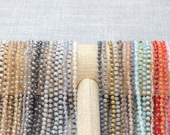 HUGE SELECTION!!! DOUBLE Wrap Layering Skinny Hand-Knotted Necklaces! 4mm very cute! 60 inches long
