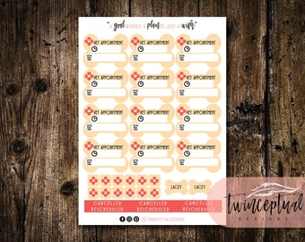 Vet Appointment PLANNER STICKERS for your Pet || Inkjet || White || Matte || Gifts for Her || Gifts for Him || Planner Gifts || Cat || Dog