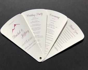 Mountain Ruby Wedding Petal Fan Program