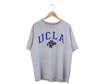 GRAY UCLA TSHIRT // ucla tee / ucla shirt / university of california los angeles / college bruins shirt / ucla bruins / vintage / adult / xl