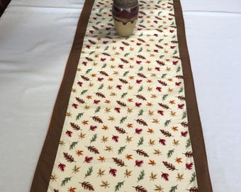 Autumn Table Runner, Colorful Leaves, Fall Table Runner, Autumn Color, Fall Colors, Autumn Decor, Fall Decor, Colorful Table Runner, OOAK