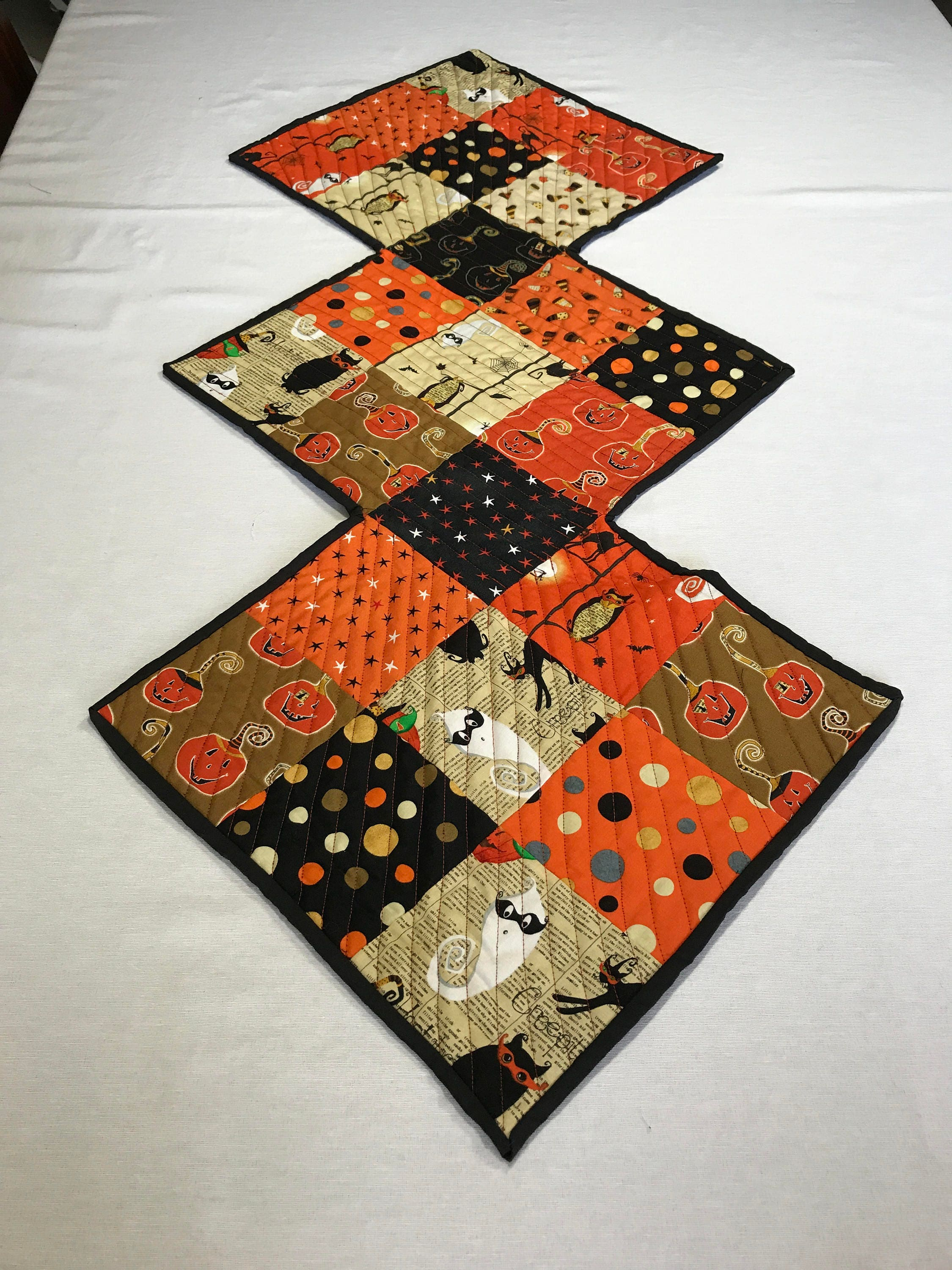 quilted halloween table runners halloween table runner quilted orange table runner halloween decor halloween party decor table cover