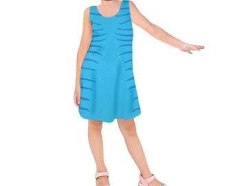 Kid's Na'vi Avatar Inspired Sleeveless Dress
