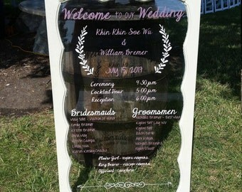 Custom Vintage Window Pane Wedding Program (Local Chicago Pickup Only!)