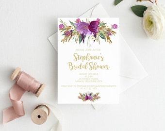 Bridal shower invitation, Hens invitation Bachelorette invitation bachelorette invitations, Bridal shower invite, bridal shower invitations