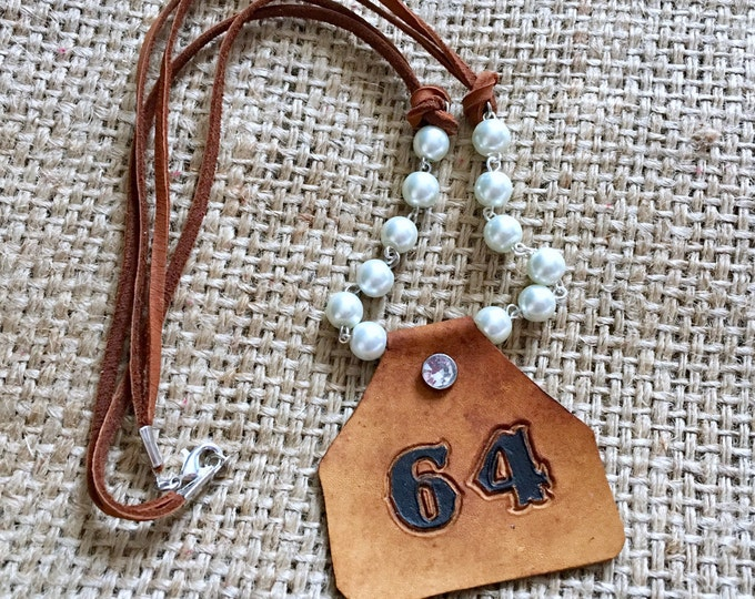 Ear Tag Necklace, Stockshow Necklace, Monogram Necklace, Cow Tag Necklace, Cow Tag Pendant, Cattle Tag Necklace,Cattle Necklace Cow Necklace