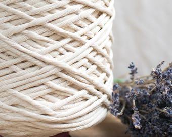Vorbestellung / Raw String Baumwollkordel / 5 mm / Baumwolle Seil / Makramee Seil / Diy Makramee / Super weicher Baumwollseil / weben Seil / Makramee