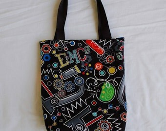 Science Fabric Gift Bag- Science on Black