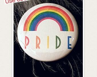 Gay Pride Badge, Gay Pride Pin, Gay Pride Button, Pride Gifts, Gay Wedding Favours, Gay Wedding Favor, Transgender Pin, Rainbows,