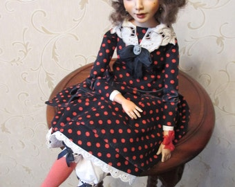 "OOAK art doll ""Doris"""