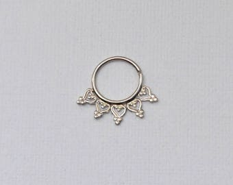 Septum Earring, Septum piercing ring, Daith jewelry ring, Nipple hoop, Nipple ring, Daith earring, Daith hoop, Septum ring