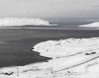 White Winter Ocean/ Home Decor/ Gift/ Travel /Print / Wall Art / Unique/ Adventure/ Wanderlust / Digital /Fine Art/ Europe/ Iceland