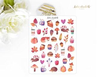 Autumn Treasures || Planner Stickers