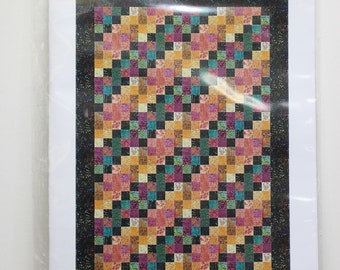"Ripples:  48"" x 72"" lap quilt pattern."