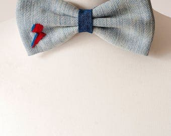 David Bowie Lighting Bolt Bow Tie, Mens Bowties, Wedding bow tie, bow tie for men, Christmas Gift, mens tie