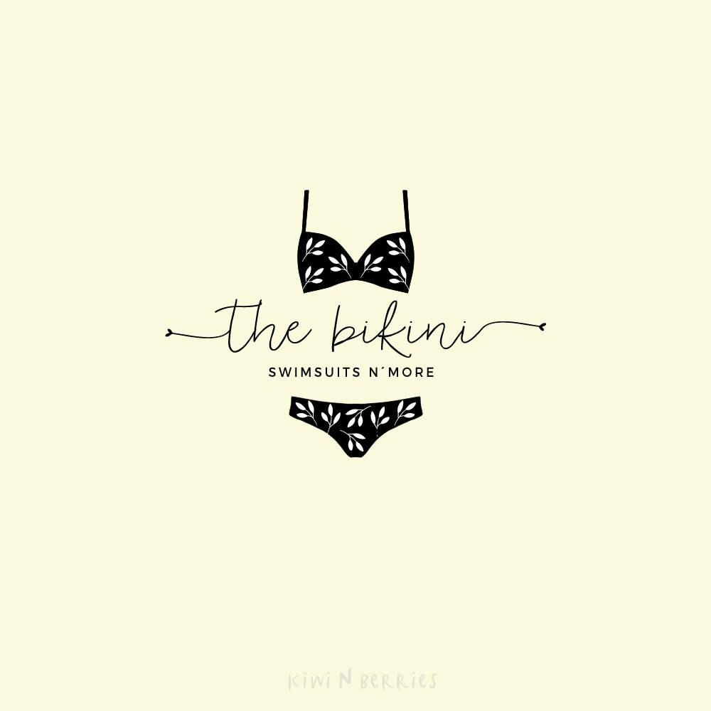 logotipo de la tienda de bikini logo diseño de logotipo de