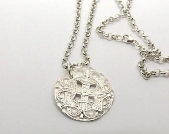 28 mm Sterling Silver Norse Talisman Shield Pendant