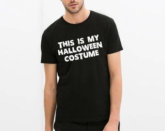 halloween tshirt this is my halloween costume vintage custom printed trick or treat all