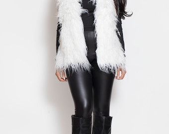 Angel Vest, Fur Vest, Fur Top