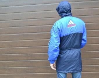 Adidas Equipment jacket, vintage full zip hip hop jacket of 90s hip-hop clothing, 1990s gangsta rap, old school windbreaker, size L Large
