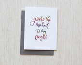 "You're the Michael to my Dwight - ""The Office"" Foil Calligraphy Greeting Card"