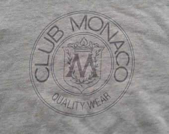 Vintage 90's Club Monaco Crew-neck Sweater Brown Grey XL Made in Canada