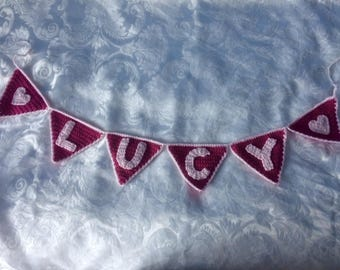 Personalised Crochet Bunting