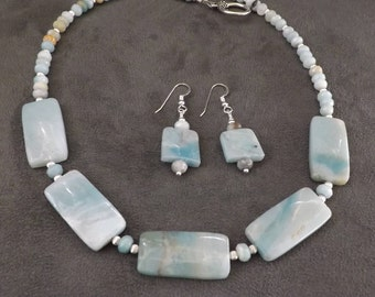 Amazonite and Sterling Silver Necklace