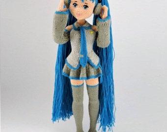 Amigurumi Doll Anime : Amigurumi miku etsy