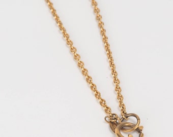 Chanel 1990s vintage Rue de Chambon dog tag necklace