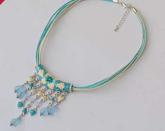 Fashion necklace - boho - vintage jewelry - necklace - summer - Heart Necklace