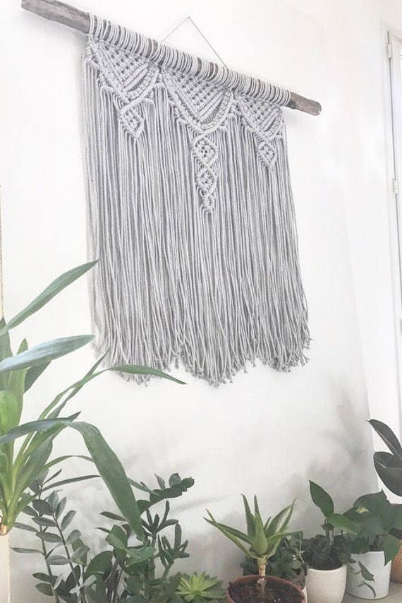 macrame wall hanging tissage mural suspension en macram. Black Bedroom Furniture Sets. Home Design Ideas