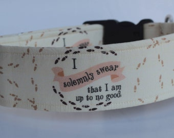 """Limited Edition!!! """"I Solemnly Swear that I am up to No Good"""" Dog Collar"""