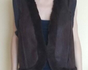 Brown Furry Vest Olsen