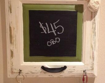 Vintage Key Hanger Chalk Board