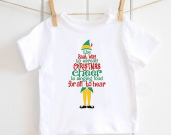 Christmas Cheer elf T-shirt - baby t-shirt, Christmas T-shirt, baby shower gift, Christmas gift, elf, Christmas top, Buddy the Elf, toddler