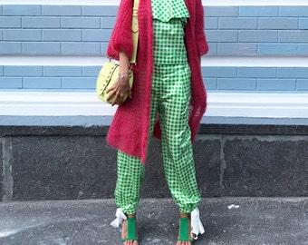 Berry cardigan, Handmade mohair cardigan, Long cardigan, light berry cardigan, Mohair cardigan, Light spring summer cardigan, Open front